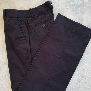 Black J.Crew cotton trousers